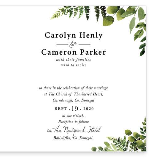 Sunny Forest Folding Wedding Invitation