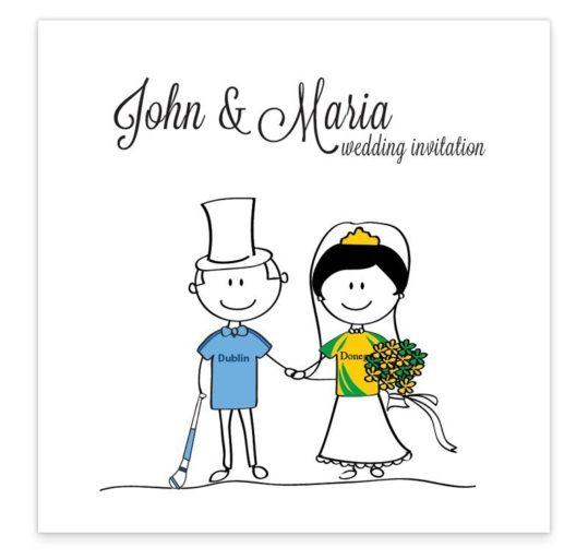 GAA Flat wedding invitation - Donegal vs Dublin