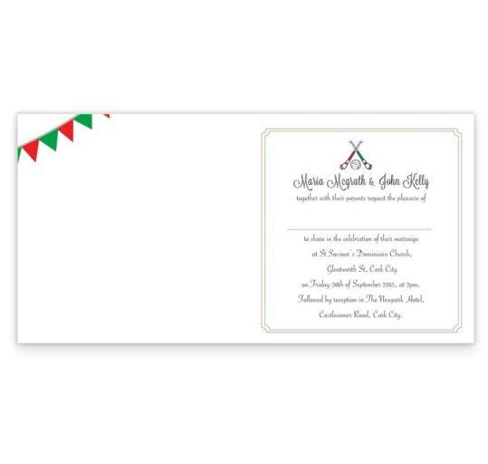 GAA Folding Wedding Invitation - Limerick vs Cork