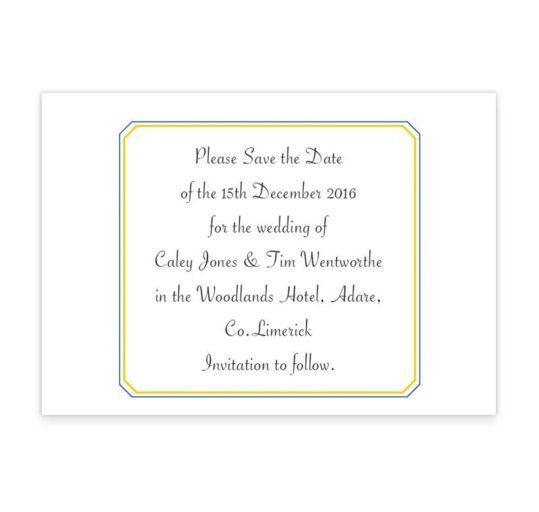 GAA Wedding Save the Dates
