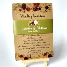 Kraft Affair Flat Wedding Invite sample