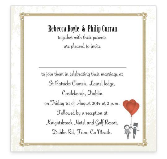 L'Amour Flat Wedding Invite Sample