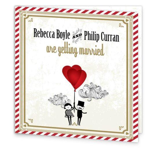 L'Amour Folding Wedding Invite