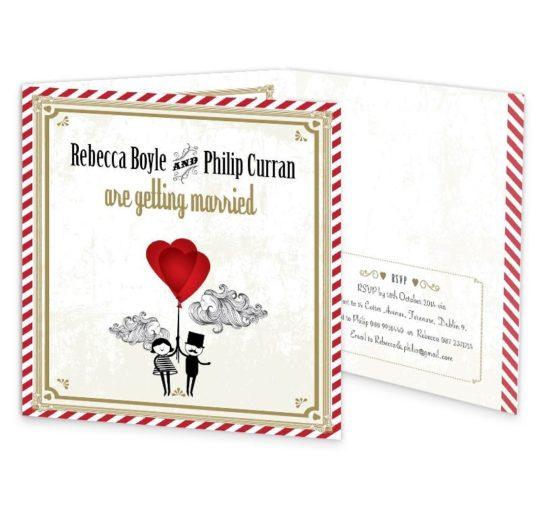 L'Amour Tri-fold Wedding Invite Sample