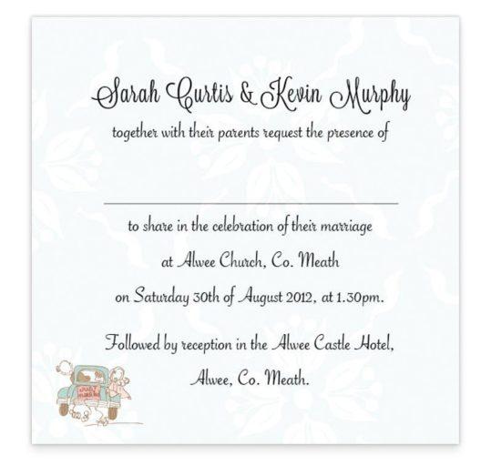 Love Story Flat Wedding Invite
