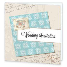 Love Story Folding Wedding Invite Sample