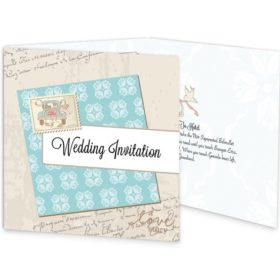 Love Story Tri-fold Wedding Invite