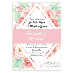 Summer Rose Wedding Invitation