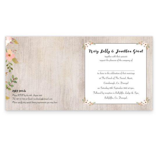 Rustic Horizon Folding Wedding Invite
