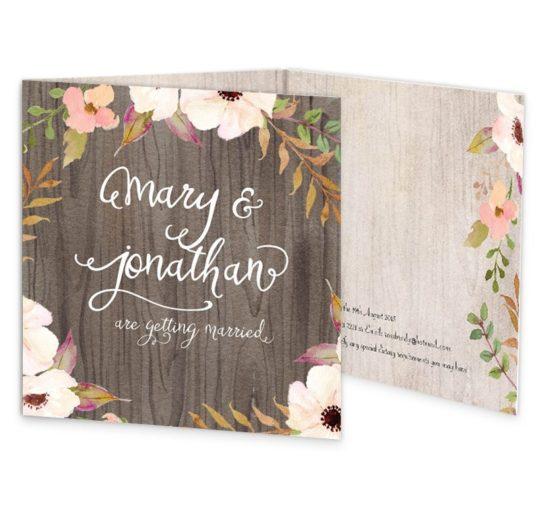 Rustic Horizon Tri-fold wedding invitations sample