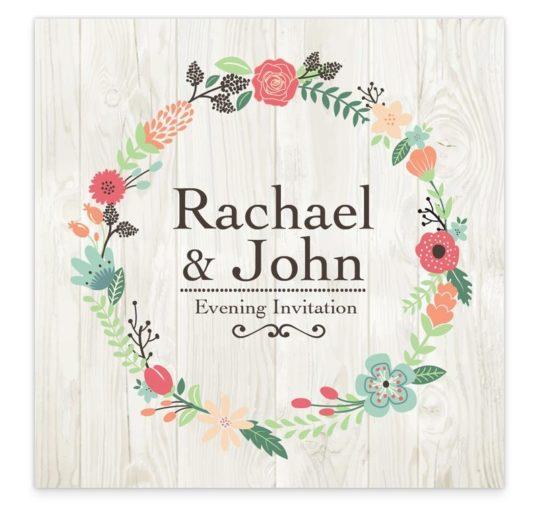 Rustic Romance Evening Invitation