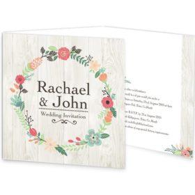 Rustic Romance Tri-fold Wedding Invitation Sample