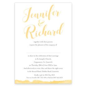 Script Foil Wedding Invite_White