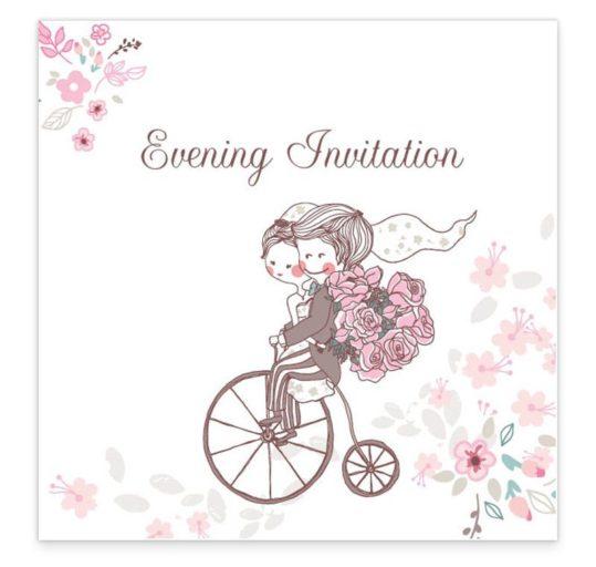 The Smitten Couple Evening Invitation