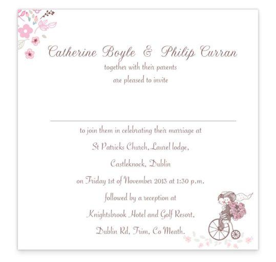Smitten Couple Flat Wedding Invite Sample