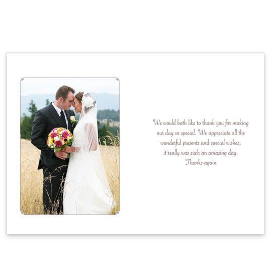 Smitten Couple Wedding Thank You Cards