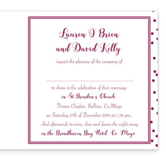 Silver Snow Folding Wedding Invitation_Burgundy
