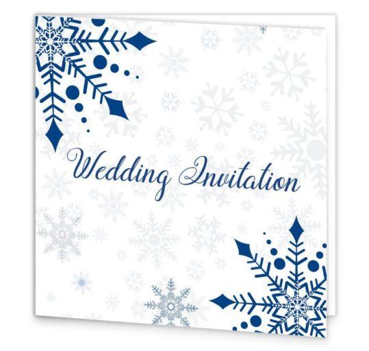 Snowflake Tri-fold Wedding Invite Sample