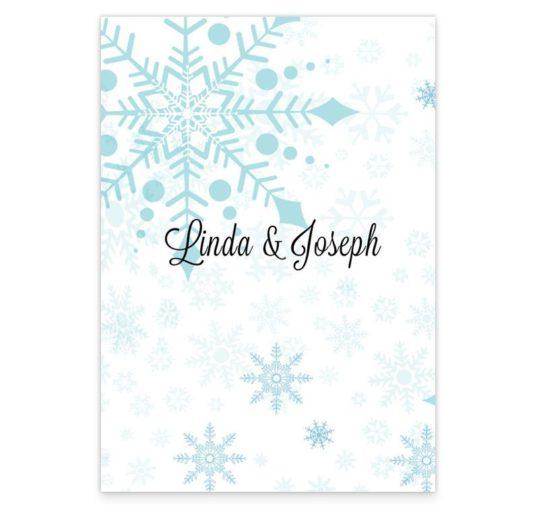 Snowflake Wedding Menus