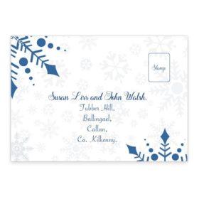 Snowflake Wedding RSVP's