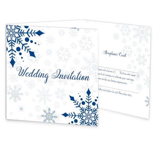 Snowflake Tri-fold Wedding Invite & RSVP