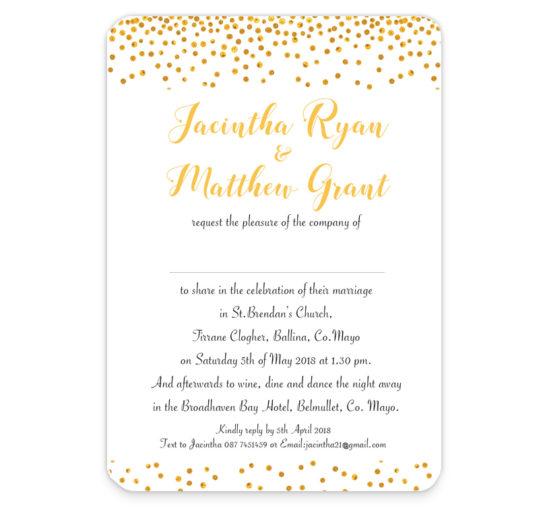 Sparkle Foil Wedding Invite Sample