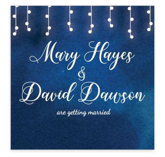 Starry Night Flat Wedding Invitation sample