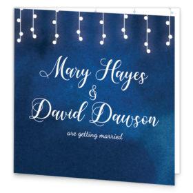 Starry Night Folding Wedding Invitation sample