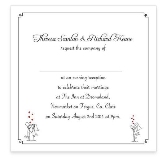 The Stick Couple Prosposing Evening Invitation