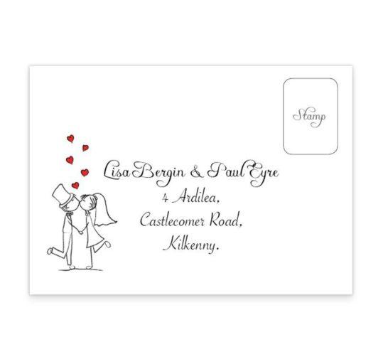 Stick Couple Proposing Wedding RSVP's