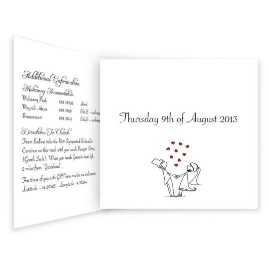 Stick Couple Proposing Tri-folding Wedding Invite Sample