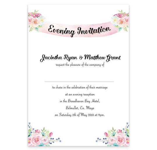 Summer Blossom Evening Invitation