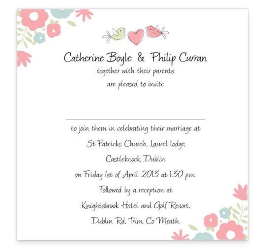 Sweetness & Light Flat wedding invitations