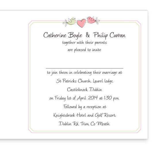 Sweetness & Light Folding wedding invitations sample