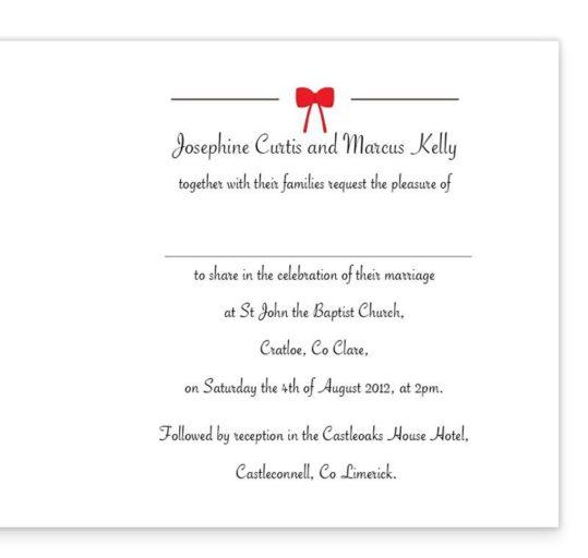 Tandem Couple Folding Wedding Invite Sample