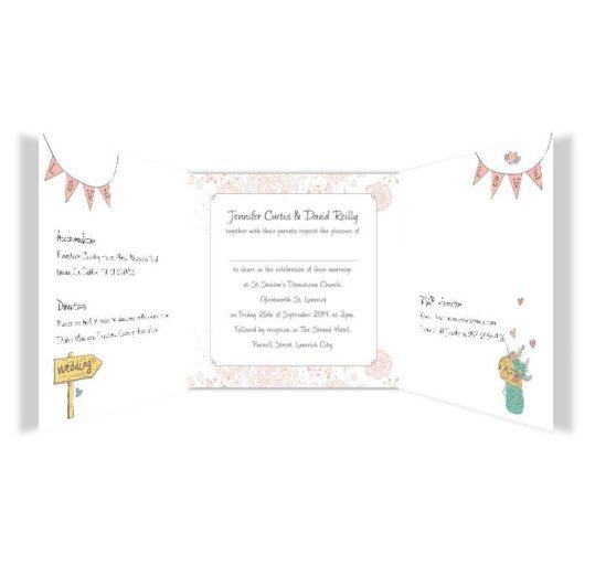Midsummer Dream Tri-fold wedding invite Sample