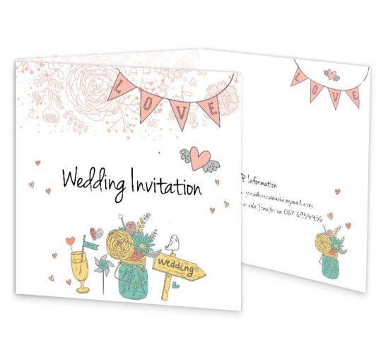 Midsummer Dream Tri-fold wedding invite