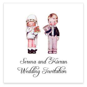 Wedded Children Flat Wedding Invitations