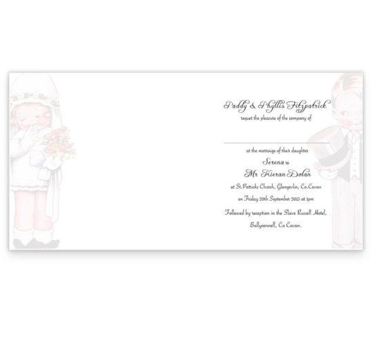 Wedded Children Folding wedding invitations