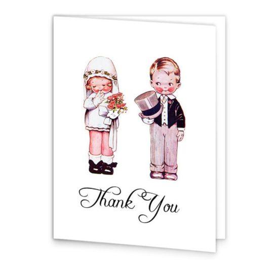 Wedded Children Wedding Thank you cards