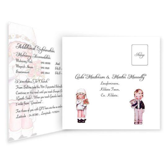 Wedded Children Tri-fold wedding invite & rsvp