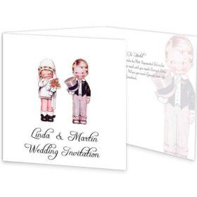 Wedded Children Folding wedding invitations Sample