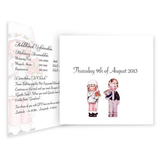 Wedded Children Tri-fold wedding invitations