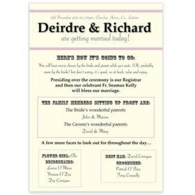 Wedding Ceremony Scrolls Sample