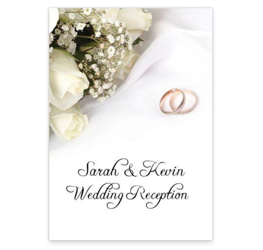 Wedding Bands and Flowers Wedding Menus