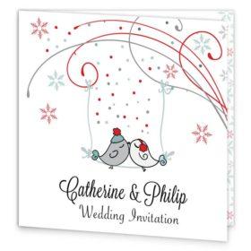 Winter Romance Folding Wedding Invitation Sample