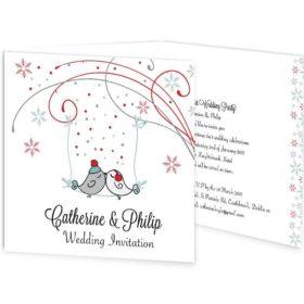 Winter Romance Tri-fold Wedding Invitation Sample