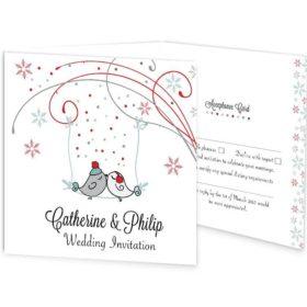 Winter Romance Tri-Fold Wedding Invitation & RSVP Sample