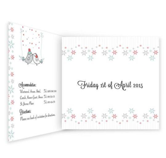 Winter Romance Tri-fold Wedding Invitation