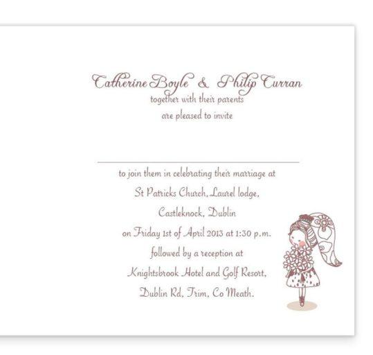 Cute Couple Folding Wedding Invite